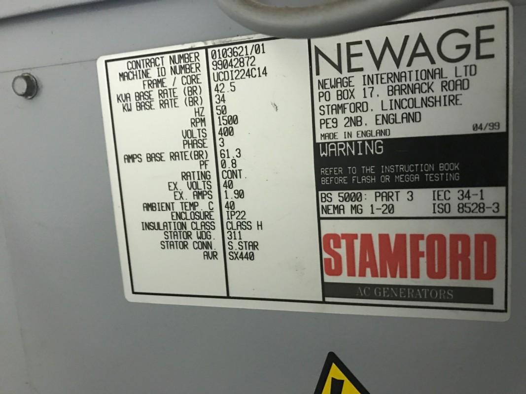Generator Stamford 34 Kw Kees Greeve Logo